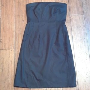 Vince NWT strapless pocket little black dress sz 4